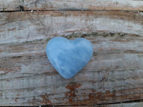 blauwe calciet hartje